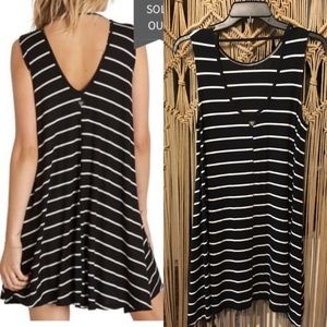 Billabong striped open back swing sundress M